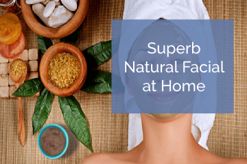 Natural facial at home